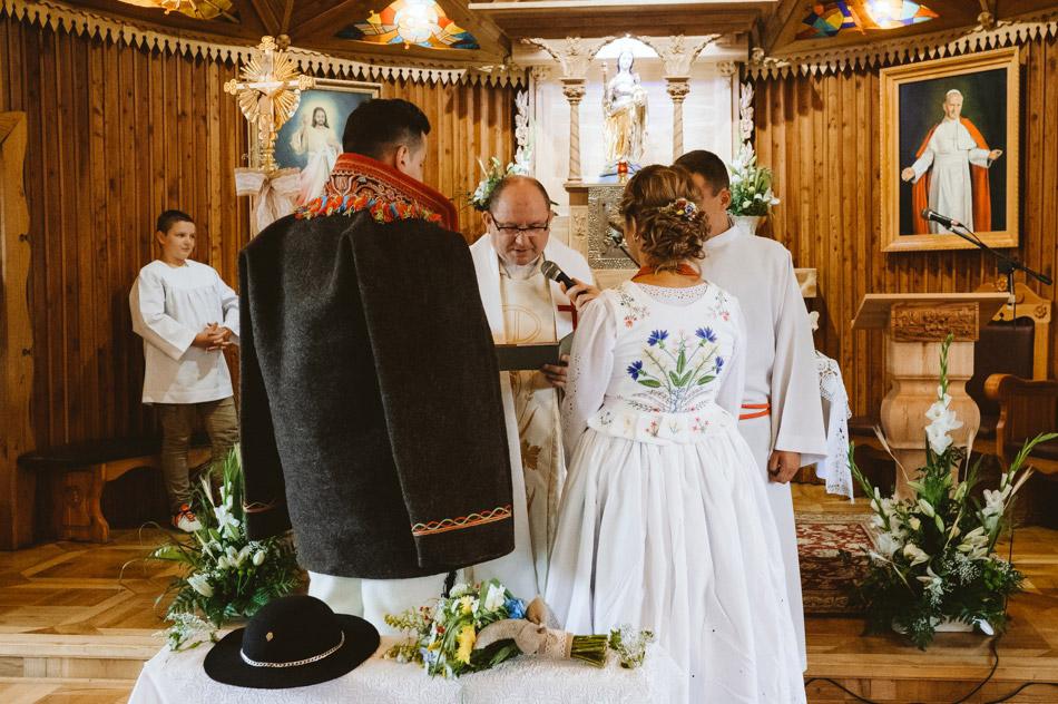 góralska przysięga ślubna w kościele
