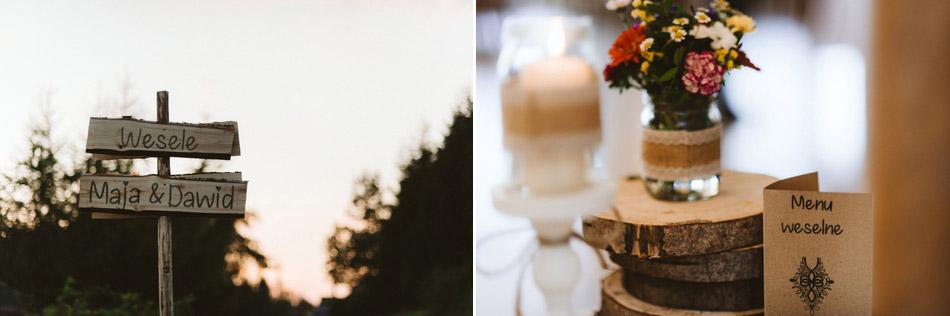 rustykalne dodatki ślubne