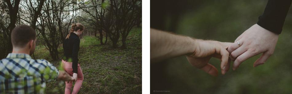 wiosenna sesja randkowa w dzikim sadzie